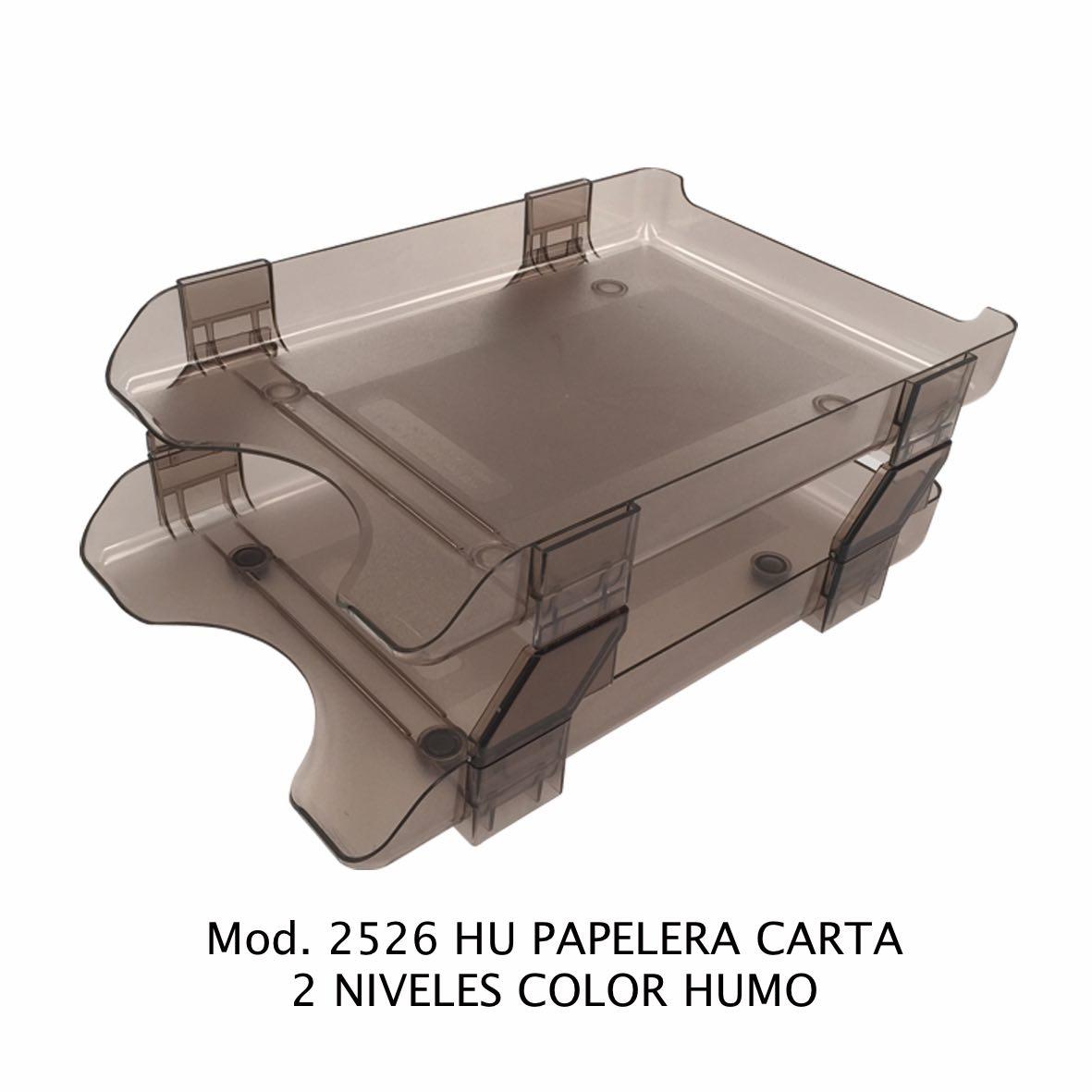Charola papelera color humo tamaño carta de 2 niveles Modelo 2526 HU - Sablón