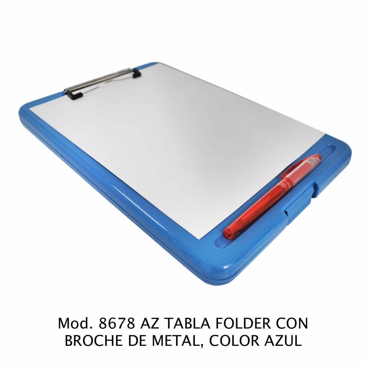 Tabla Folder con broche de metal color azul modelo 8678 AZ - Sablón