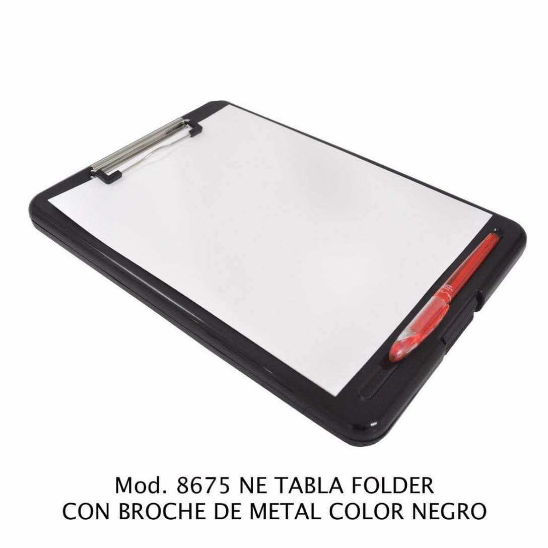 Tabla Folder con broche de metal color negro modelo 8675 NE - Sablón