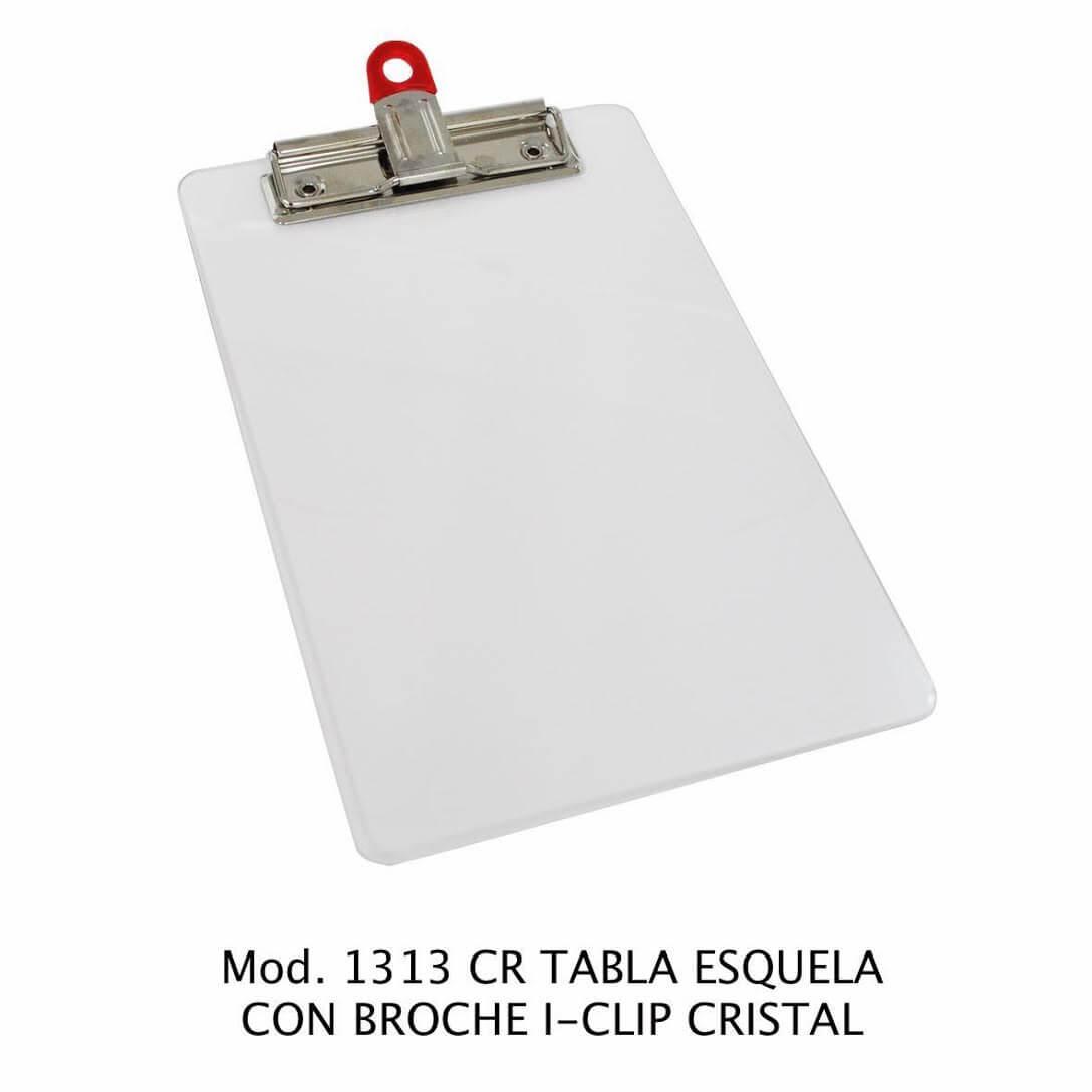 Tabla de apoyo tamaño esquela con broche i-clip color cristal modelo 1313 NE - Sablón