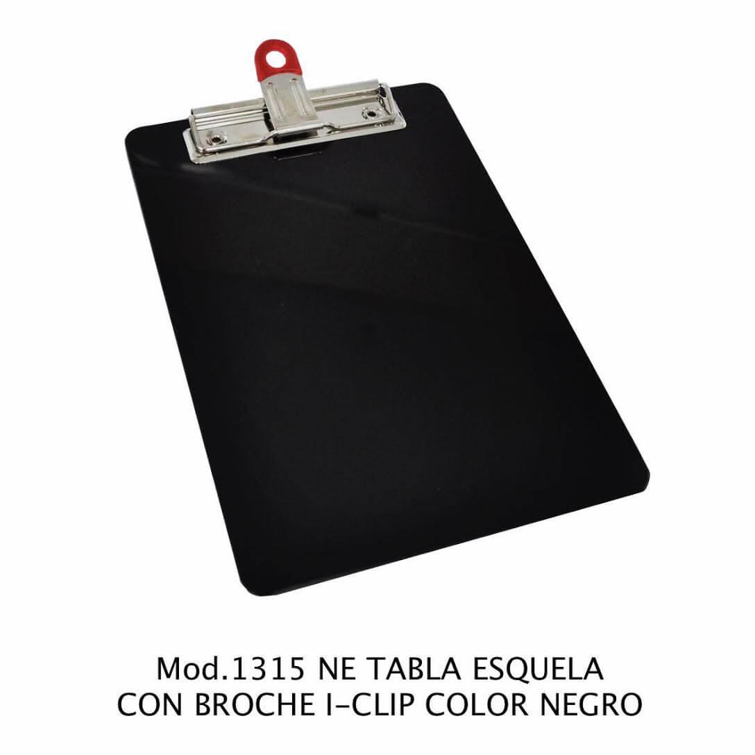 Tabla de apoyo tamaño esquela con broche i-clip color negro modelo 1315 NE - Sablón
