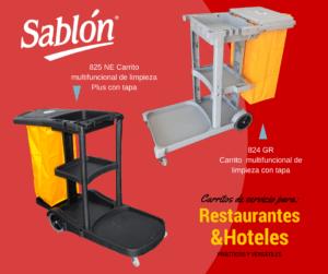 Carrito multifuncional de limpieza para hoteles y restaurantes - Sablón