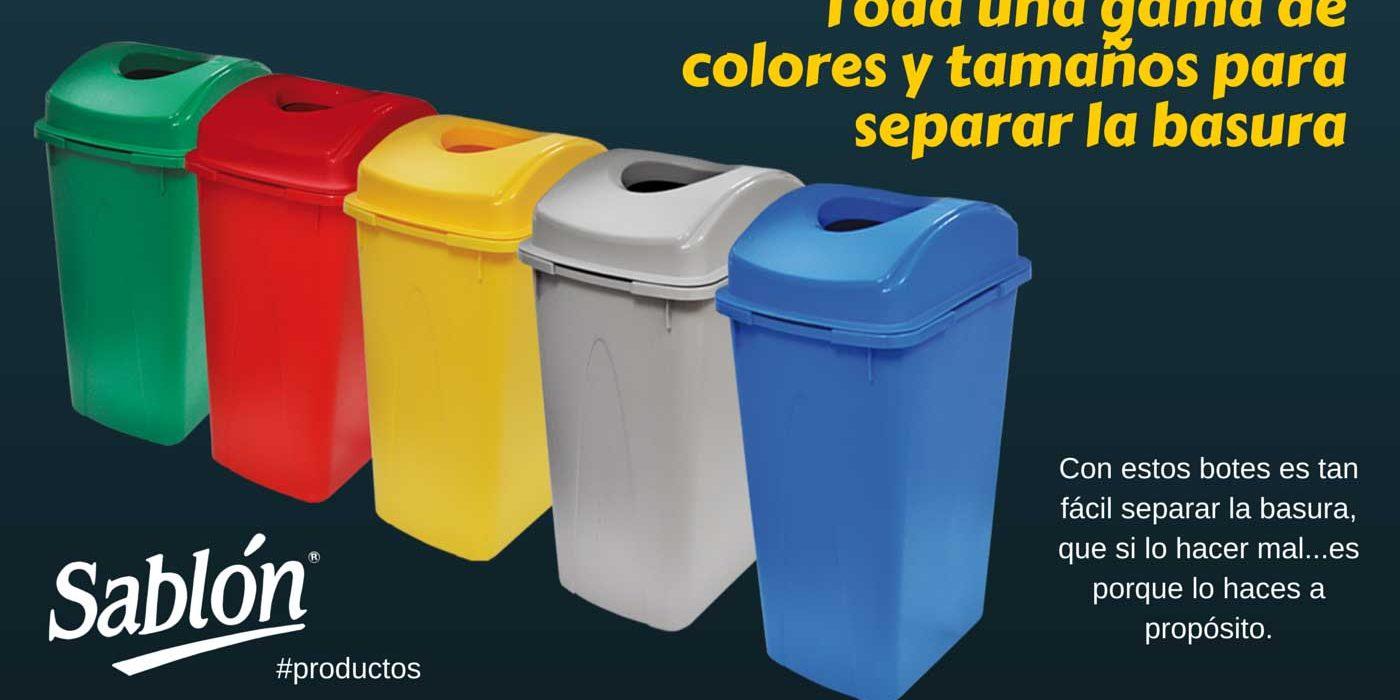 Botes de colores para separar la basura f cilmente - Colores para la pared ...