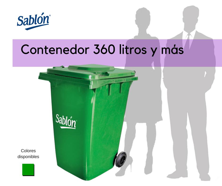 Sablón contenedores de 360 litros y mas