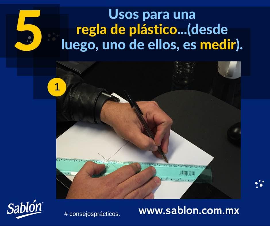 5 Usos para una regla de plastico - 1 - Sablon