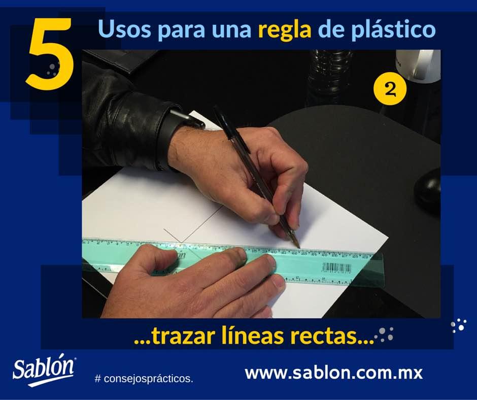5 Usos para una regla de plastico - 2 - Sablon
