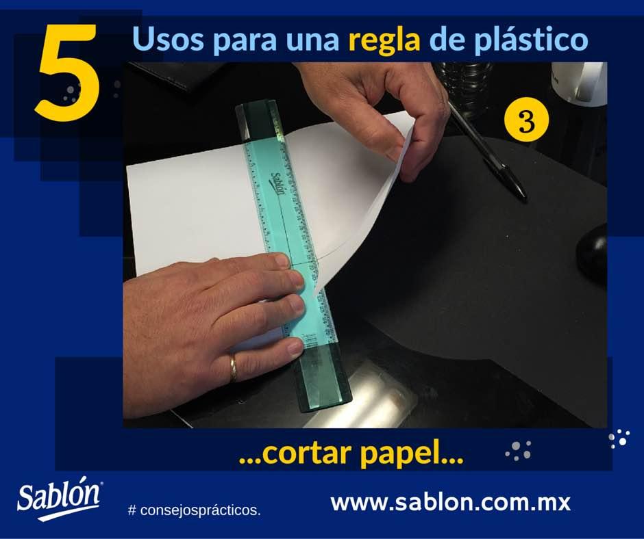 5 Usos para una regla de plastico - 3 - Sablon