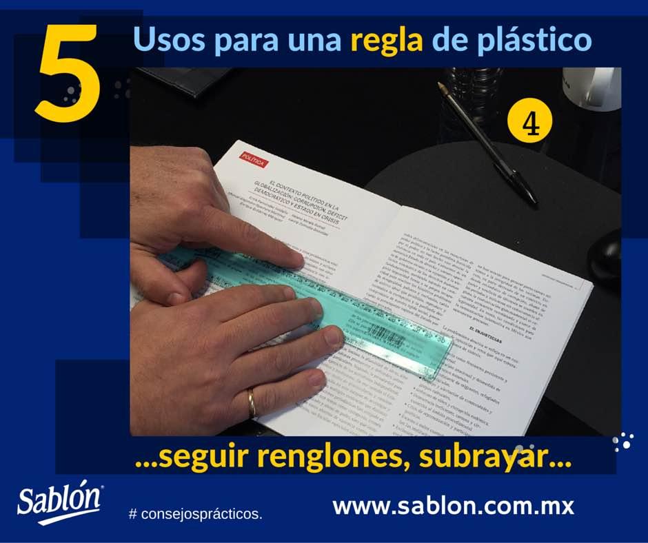 5 Usos para una regla de plastico - 4 - Sablon