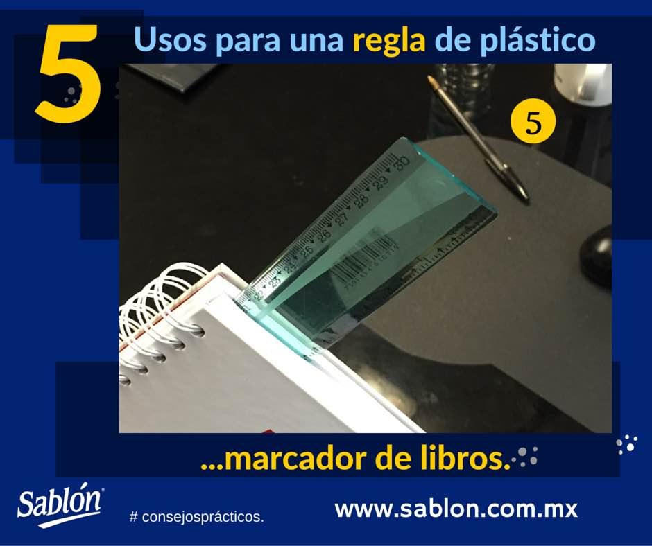 5 Usos para una regla de plastico - 5 - Sablon
