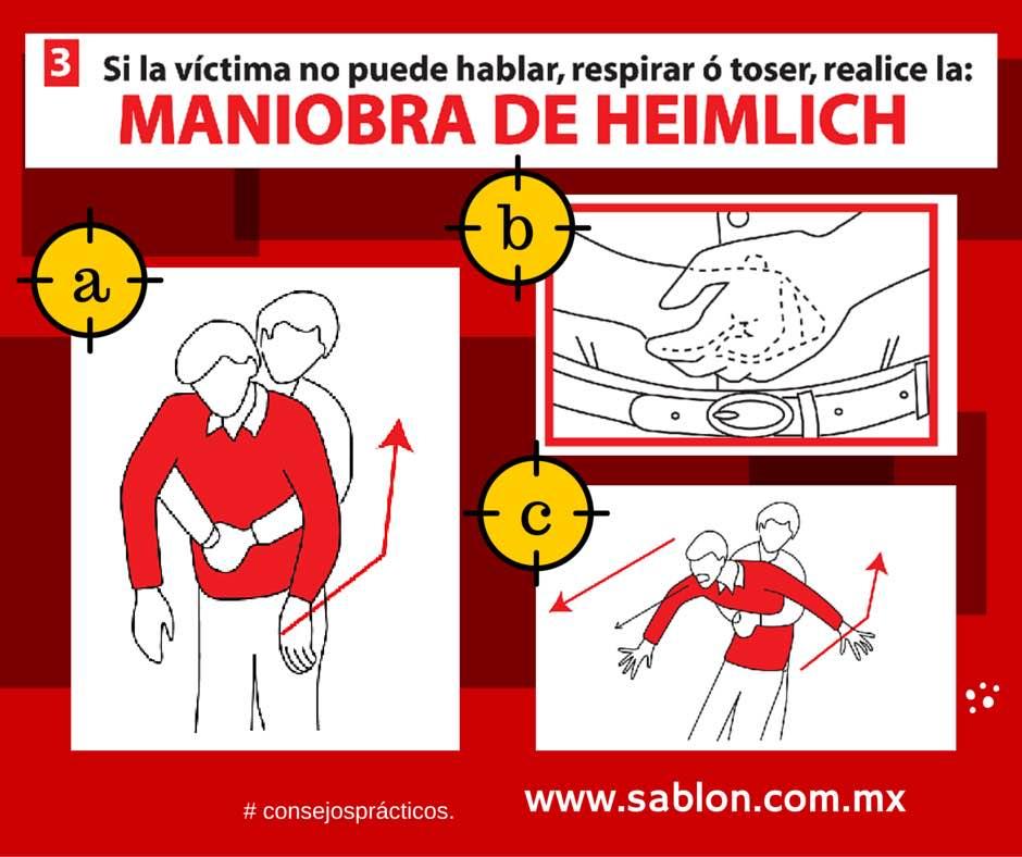Maniobra de Heimlich - Paso 3 de 4 - Sablón
