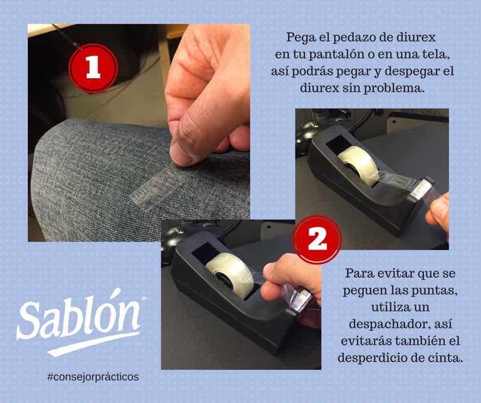 Reduce el adhesivo del diurex fácilmente - Sablón