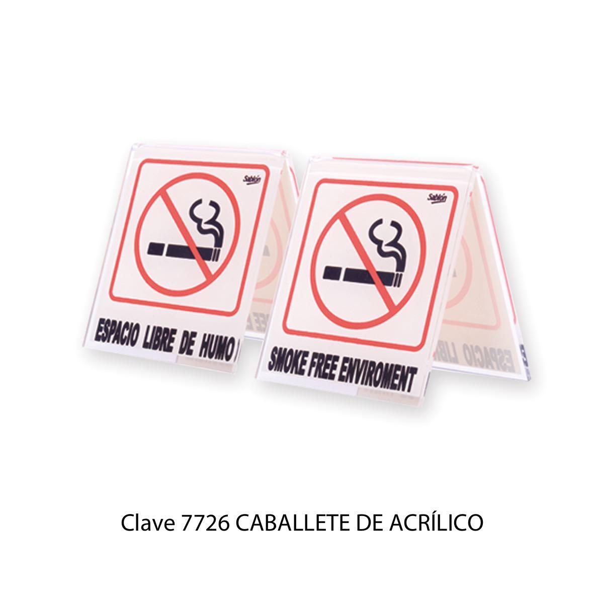 Caballete No Fumar modelo 7703 - Sablón
