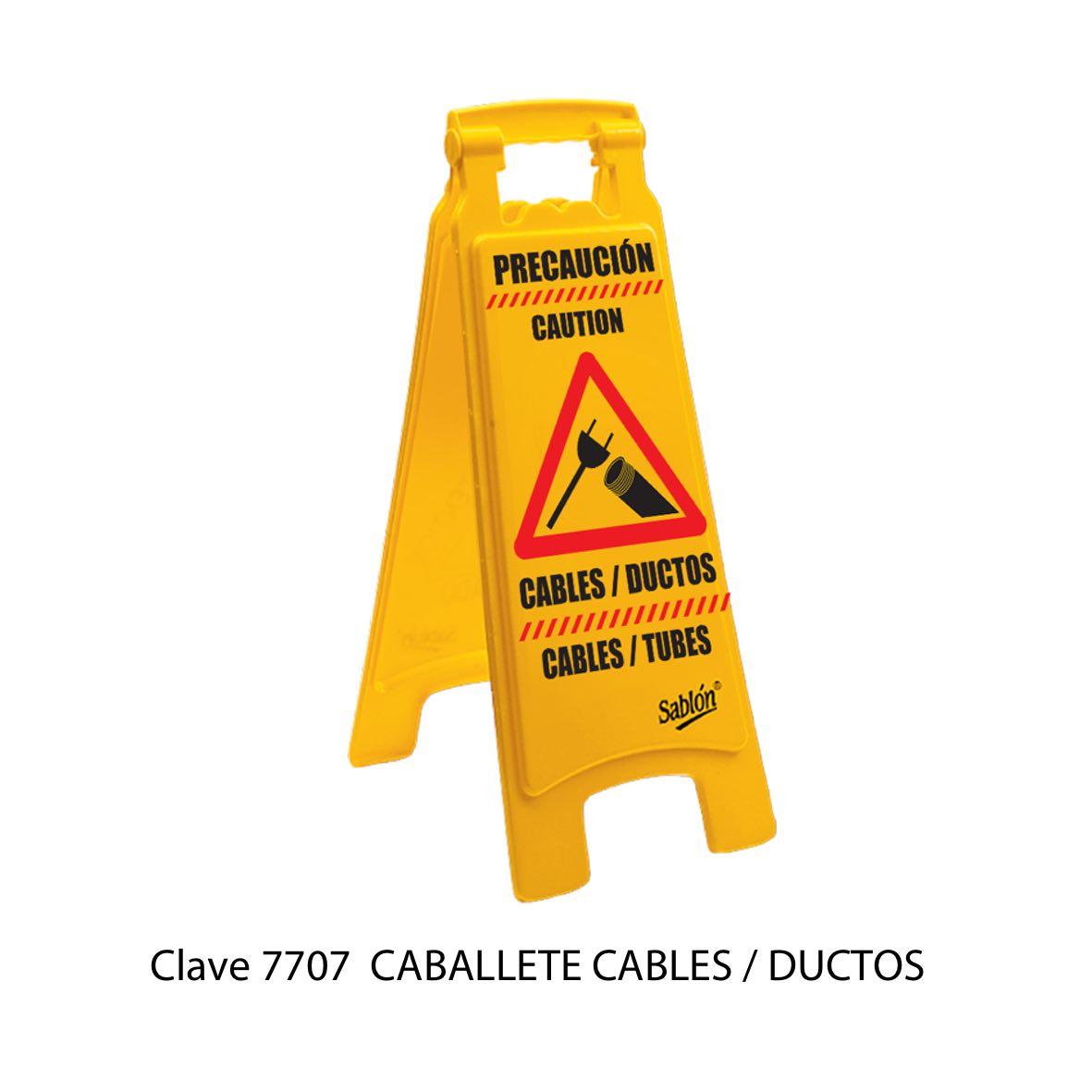 Caballete Precaucion Cables - Ductos Modelo 7707 - Sablón