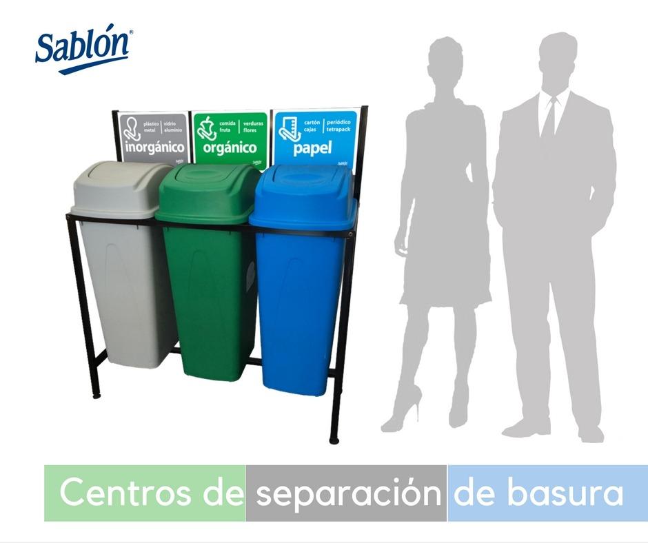 Centros de separación de basura Sablón
