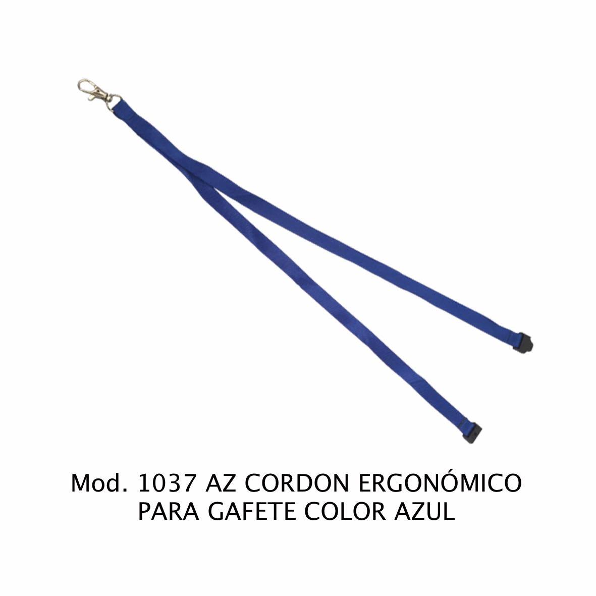 Cordon ergonómico para Gafete Color Azul Modelo 1037 AZ - Sablón