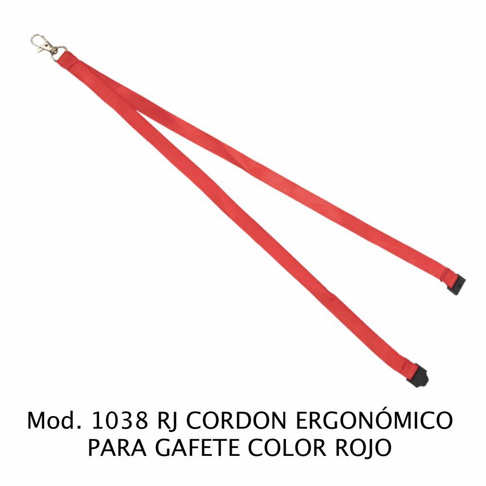 Cordon ergonómico para Gafete Color Rojo Modelo 1038 RJ - Sablón