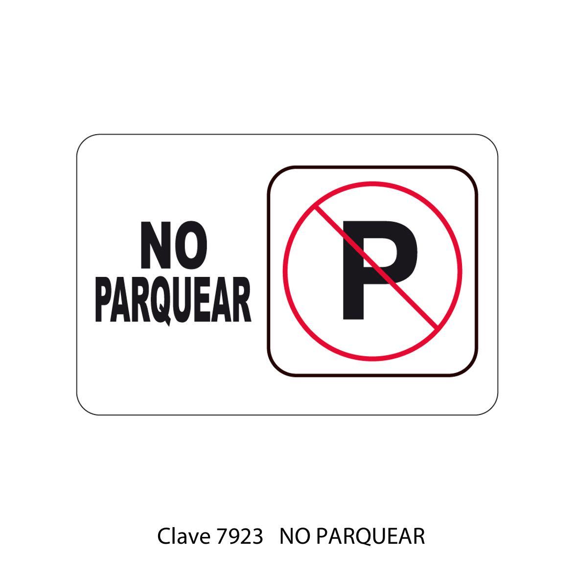 No Parquear Modelo 7923 - Sablón
