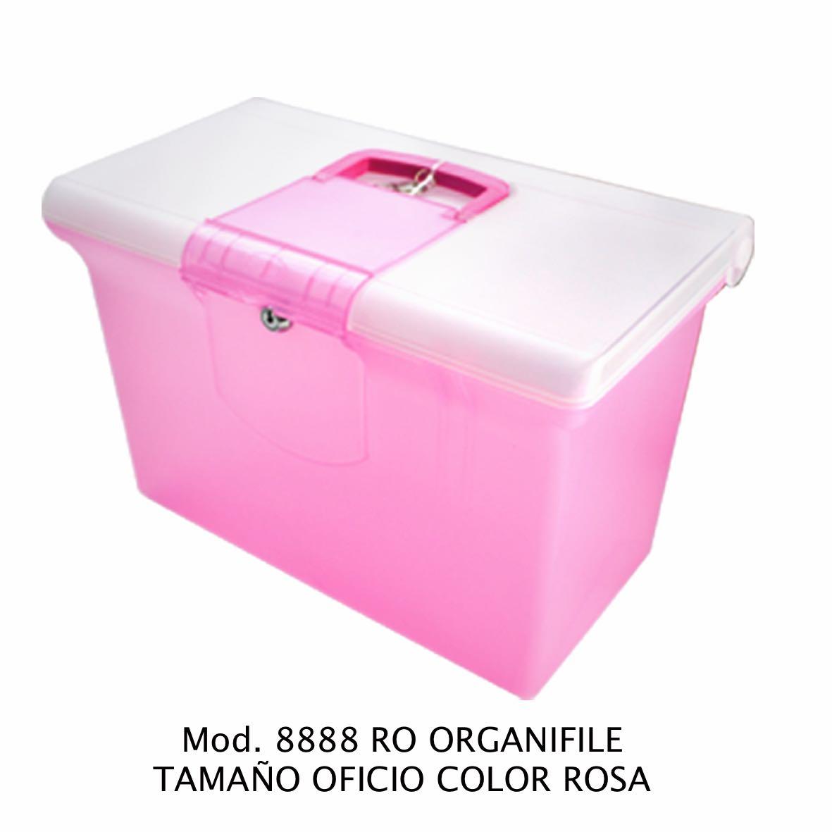 Organifile tamaño oficio de color rosa Modelo 8888 RO - Sablón
