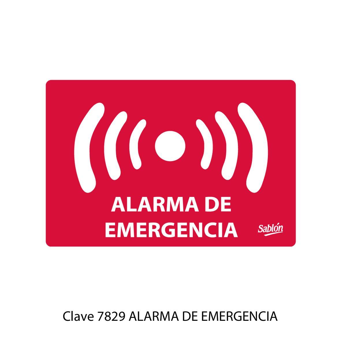 Señal Alarma de Emergencia Modelo 7829 - Sablón