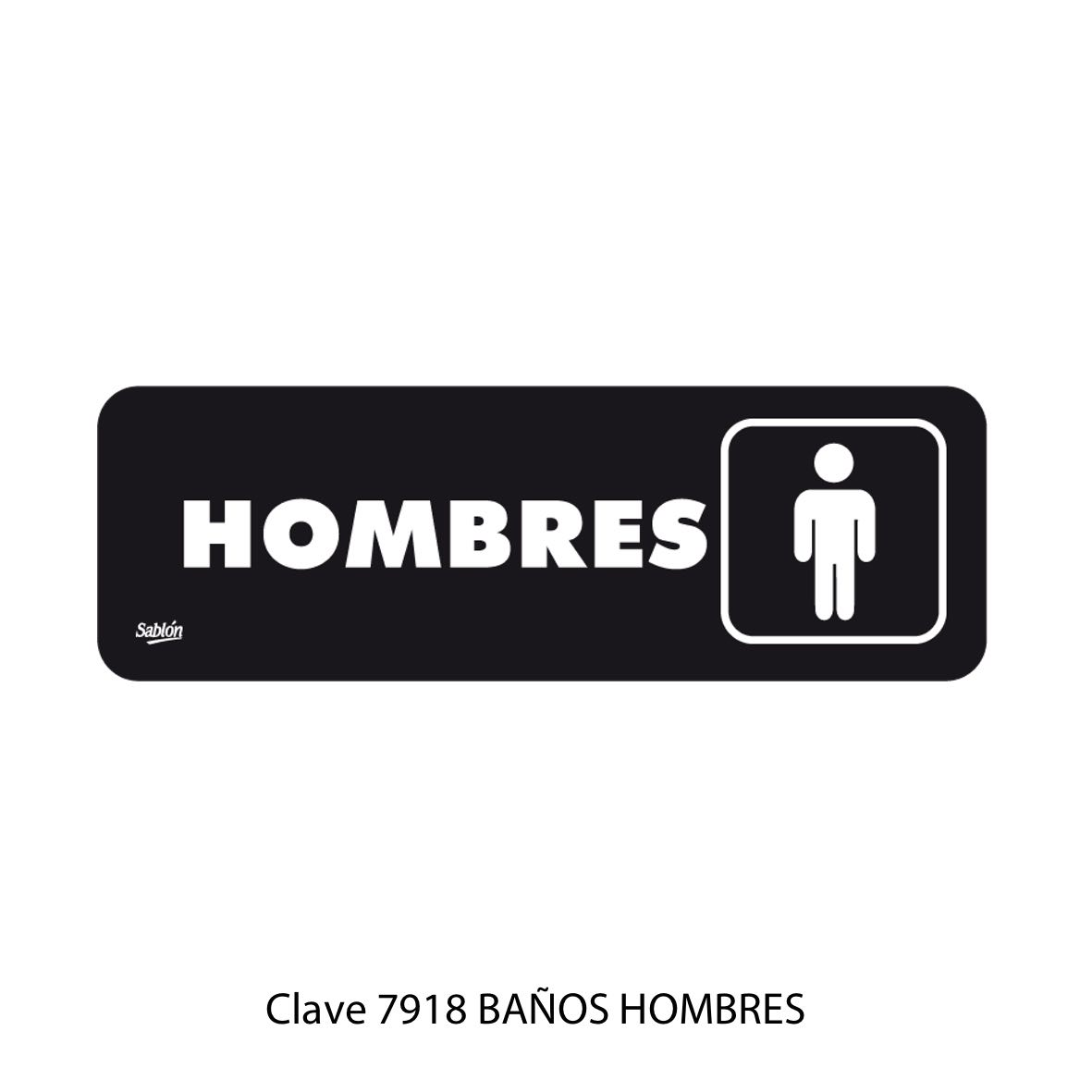 Señal Baño Hombres Modelo 7918 - Sablón