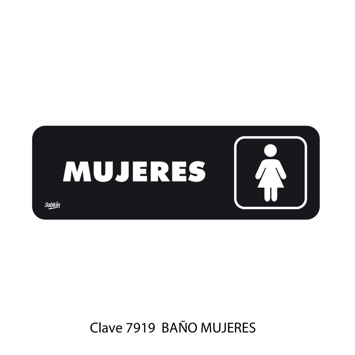 Señal Baño Mujeres Modelo 7919 - Sablón
