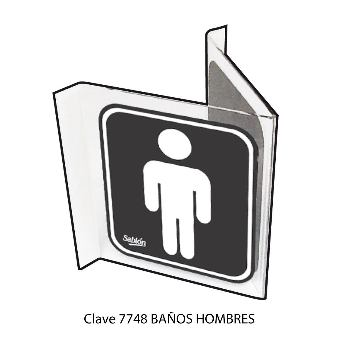 Señal Baños Hombres Modelo 7748 - Sablón