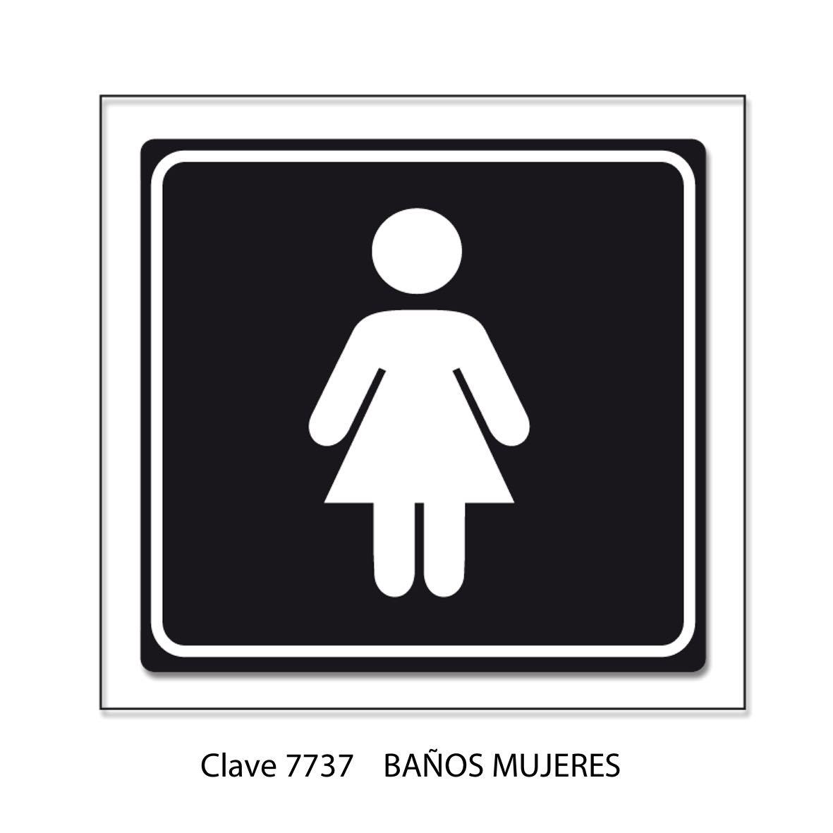 Señal Baños Mujeres 7737 - Sablón
