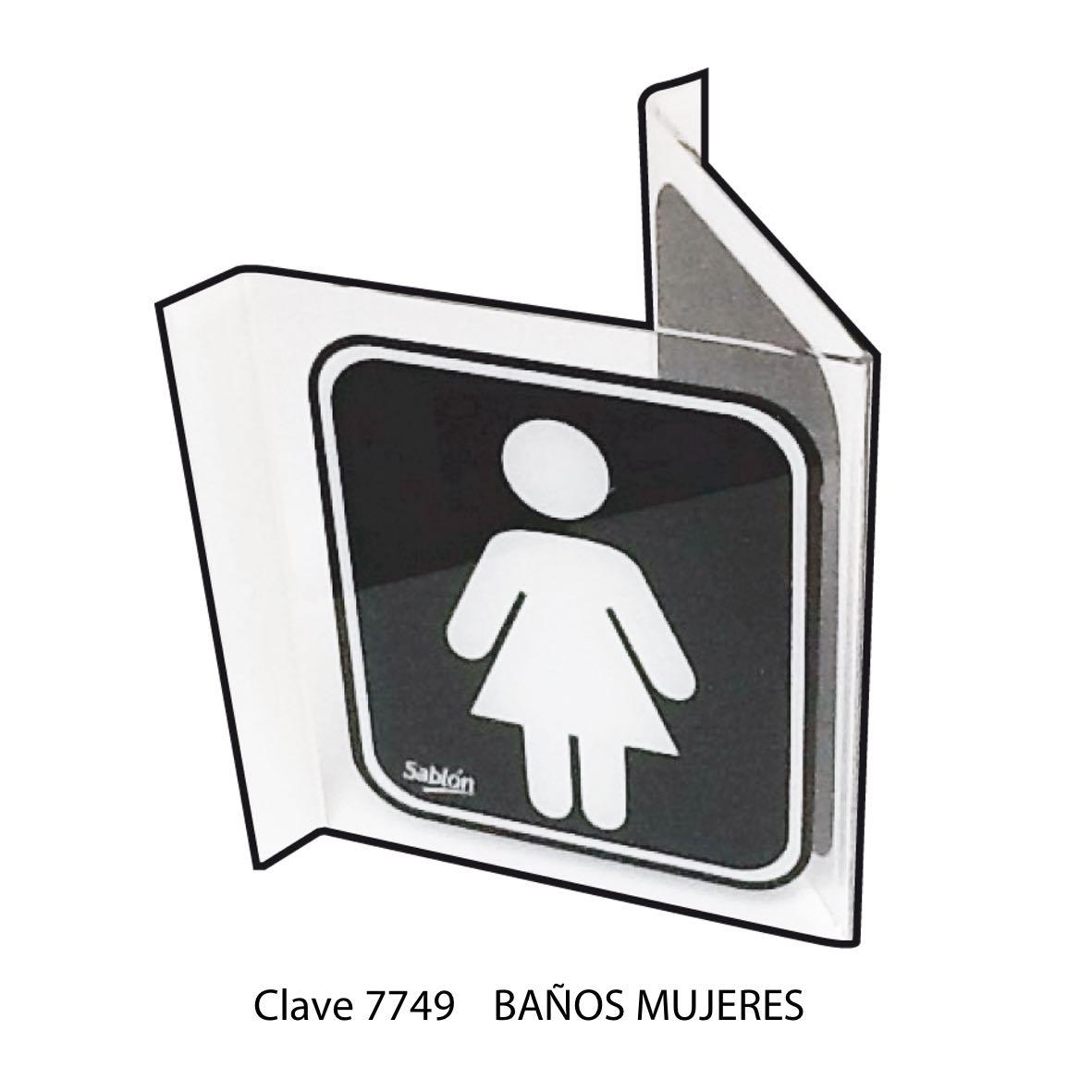 Señal Baños Mujeres Modelo 7749 - Sablón