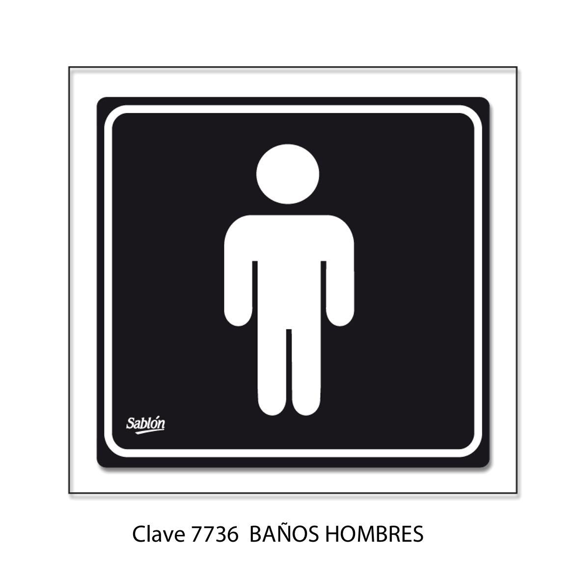 Señal Baños hombres Modelo 7736 - Sablón