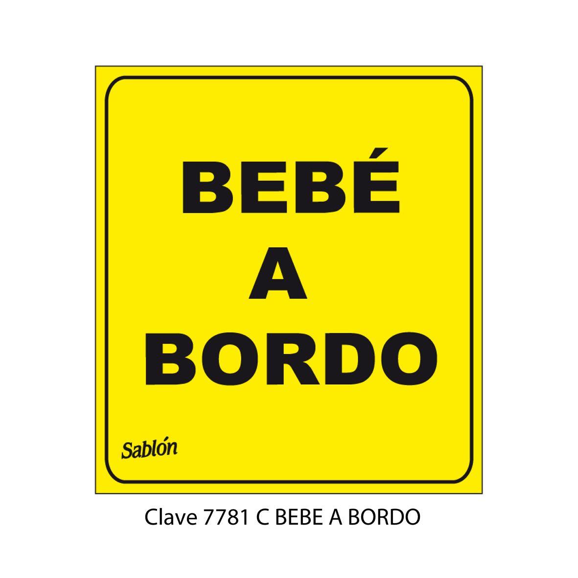 Señal Bebé Abordo modelo 7781 C - Sablón