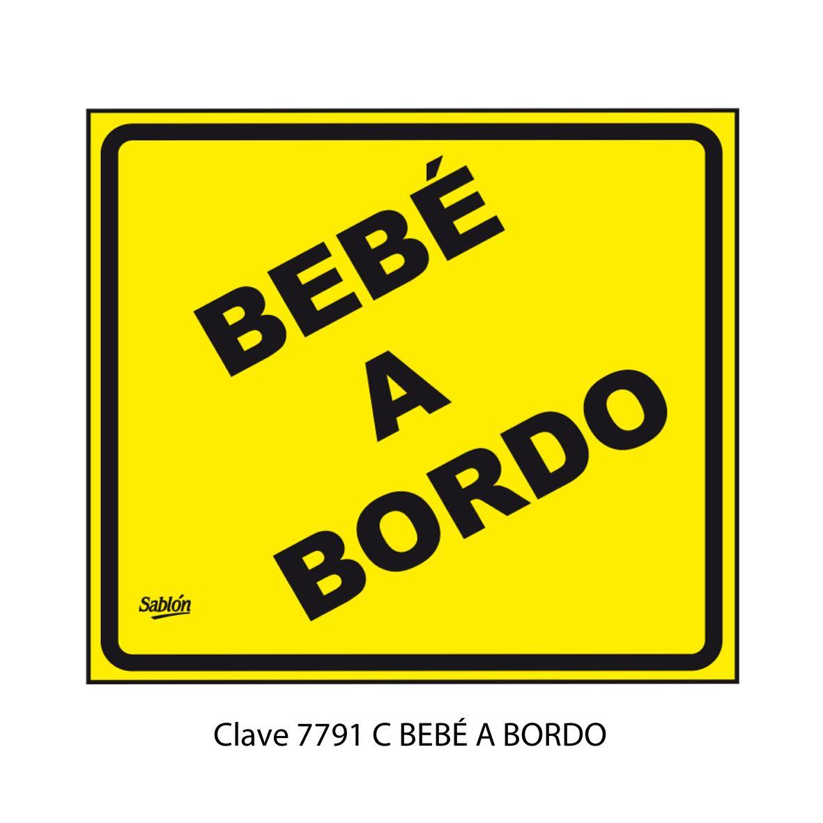 Señal Bebé Abordo Modelo Modelo 7791 C - Sablón