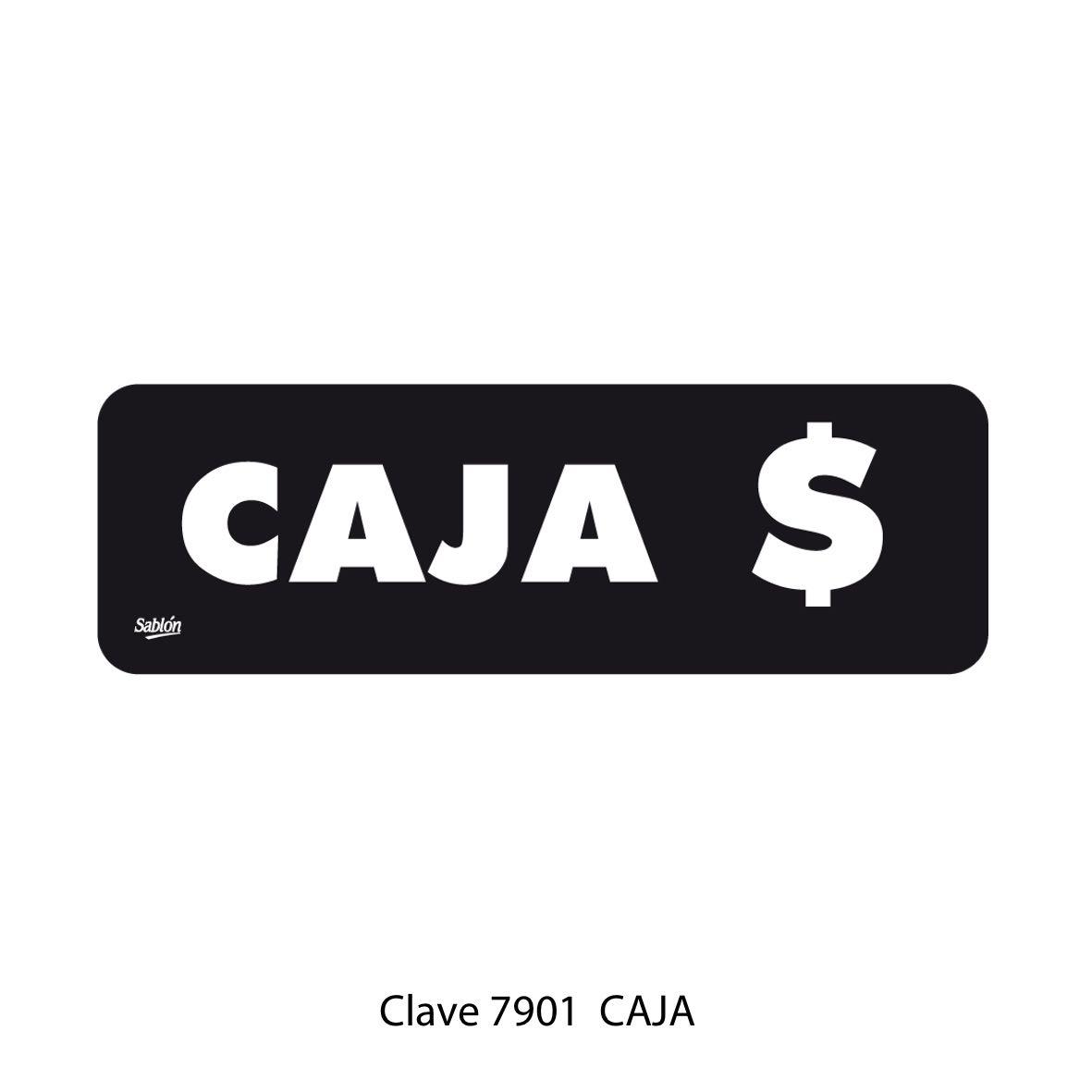 Señal Caja Modelo 7901 - Sablón