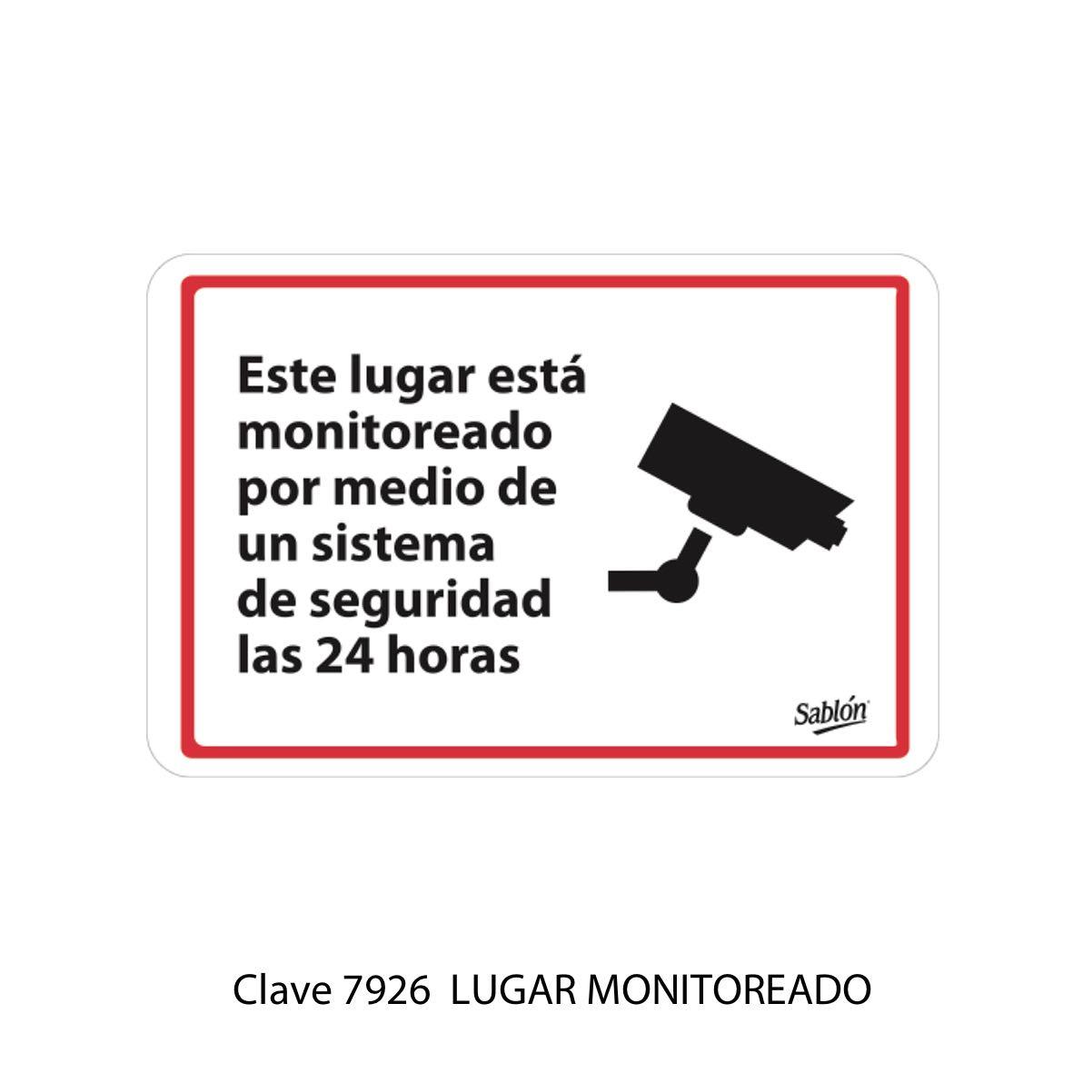 Señal Cámara de Vigilancia Modelo 7926 - Sablón