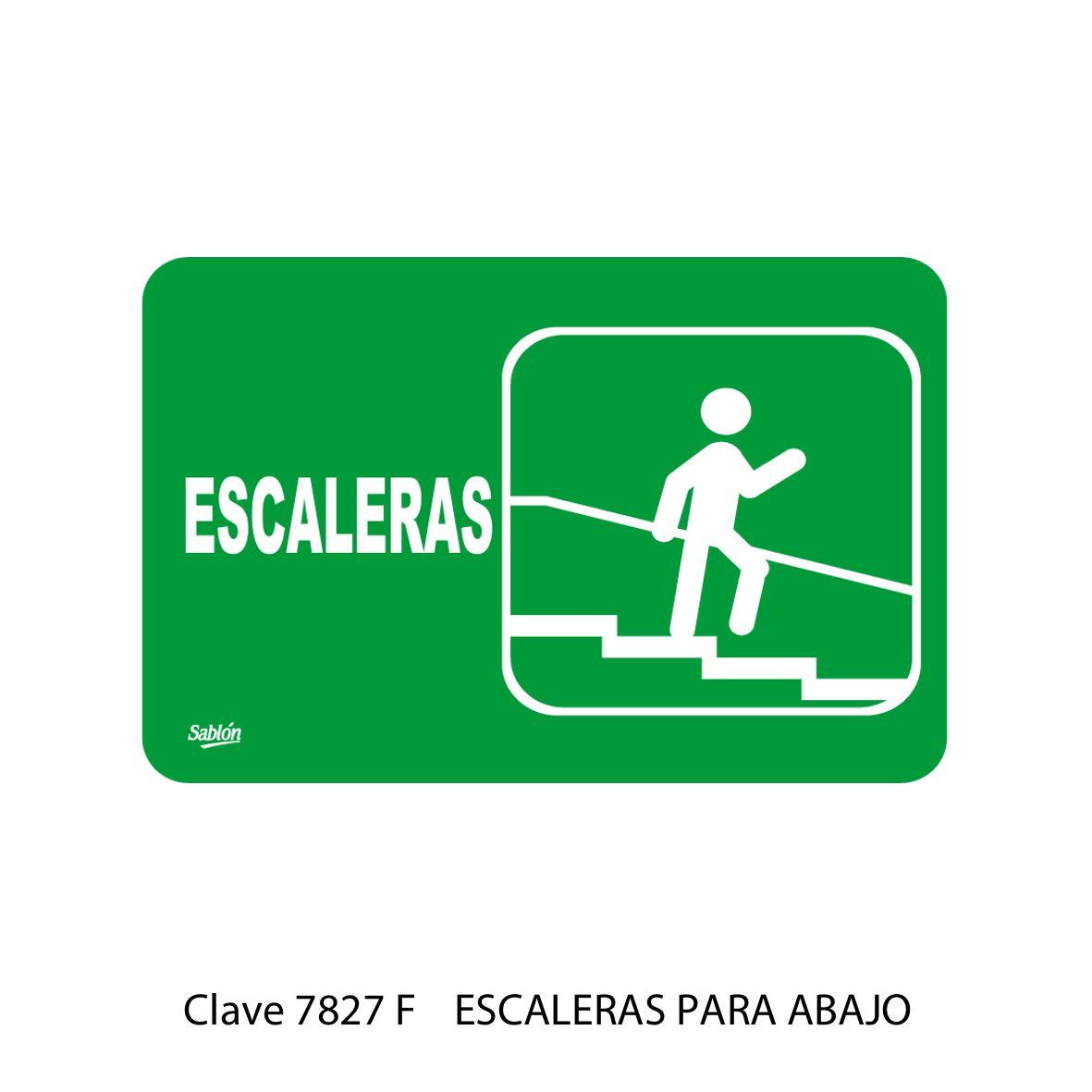 Señal Escaleras para Abajo 7827 F - Sablón