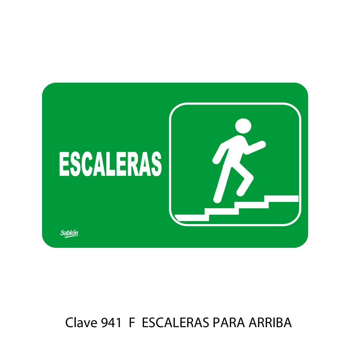 Señal Escaleras para Arriba Modelo 7941 F - Sablón