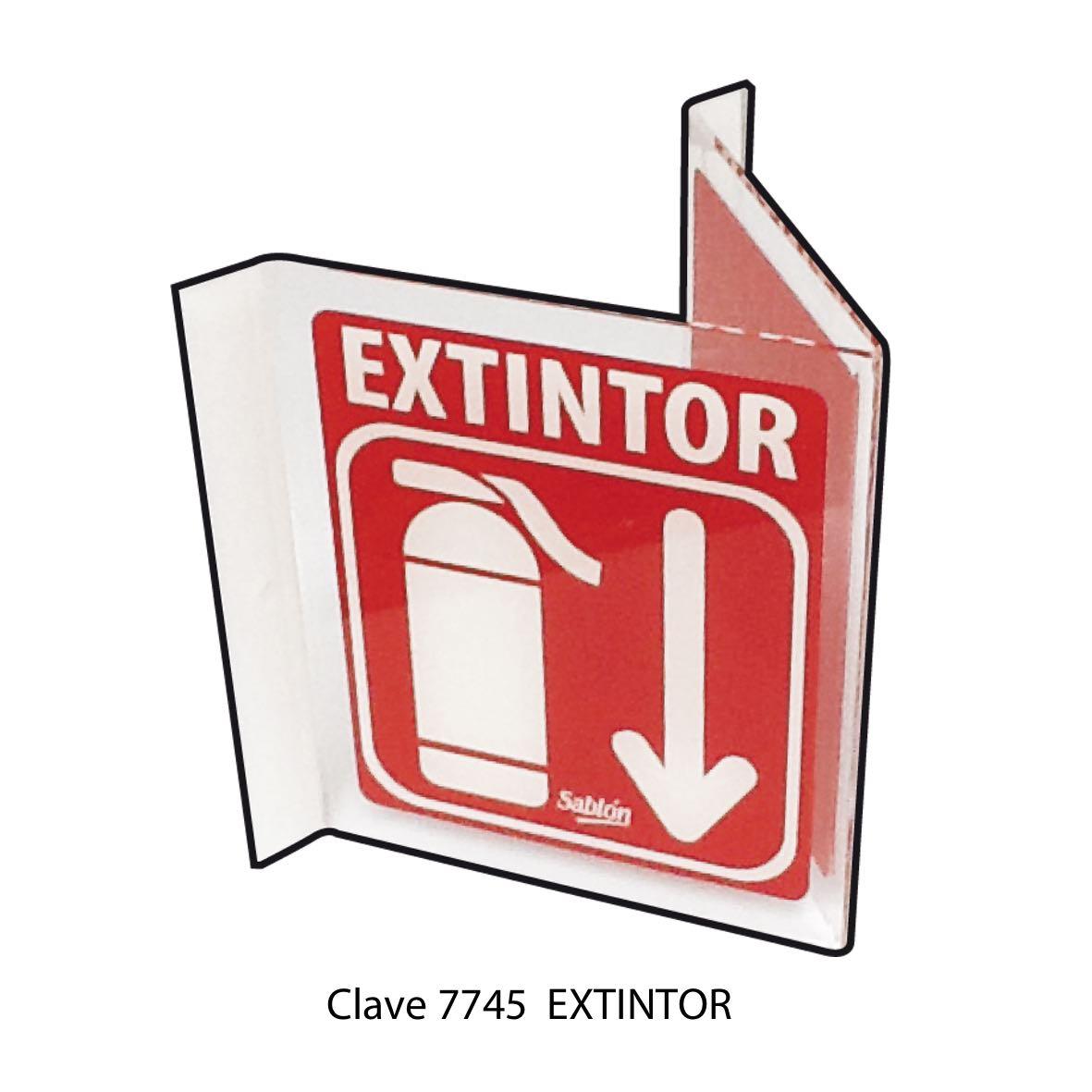 Señal Extintor Modelo 7745 - Sablón
