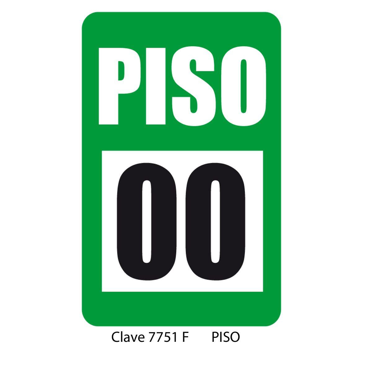 Señal Indicación de Piso 7751 F - Sablón
