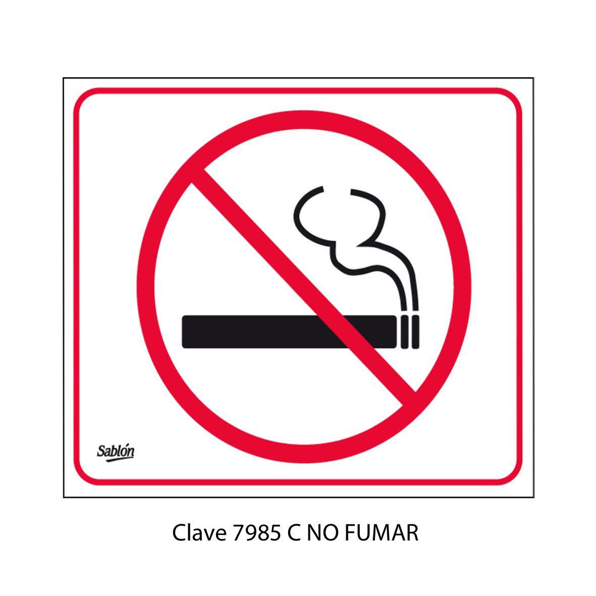 Señal No Fumar Modelo 7985 C - Sablón