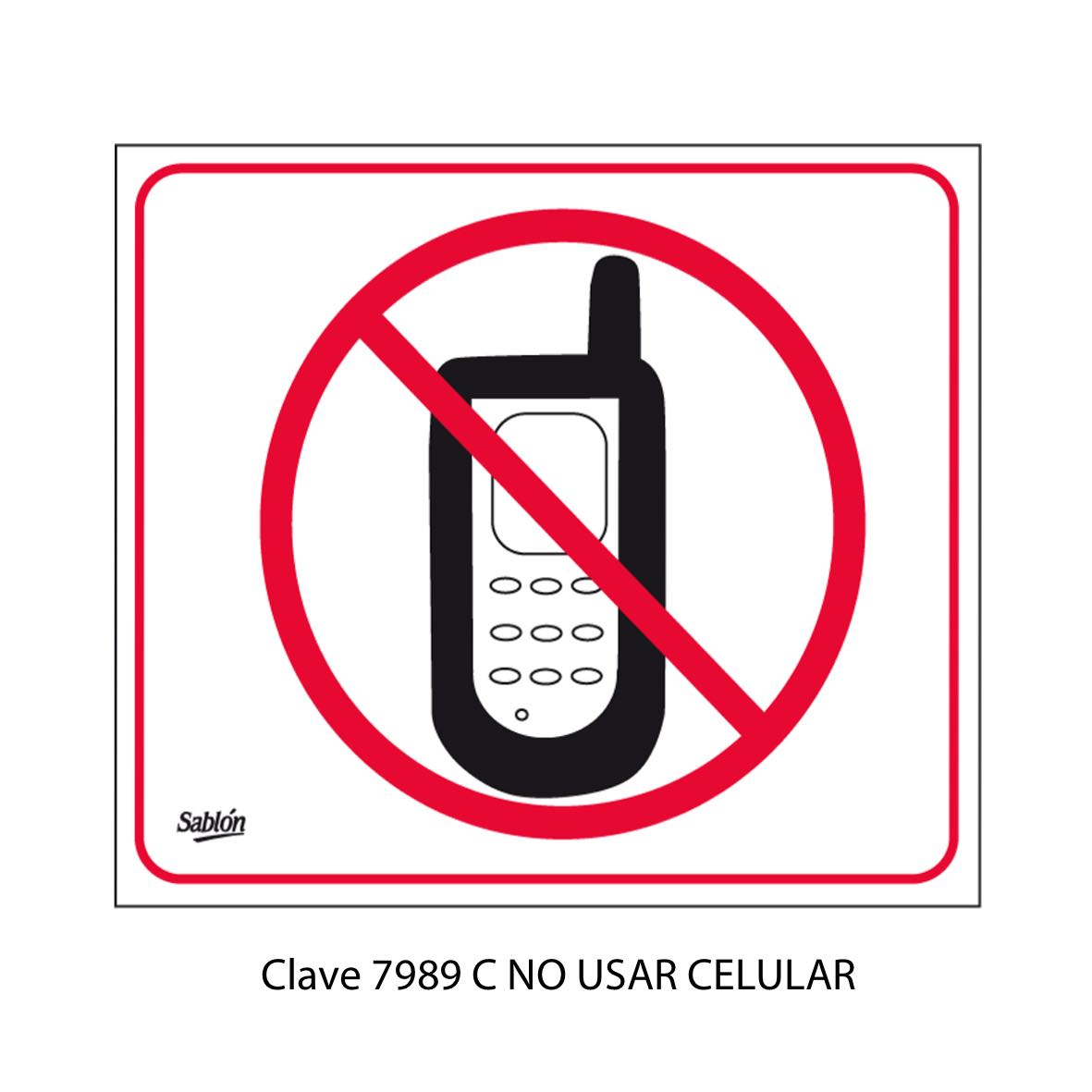 Señal No Usar Celular Modelo 7989 C - Sablón