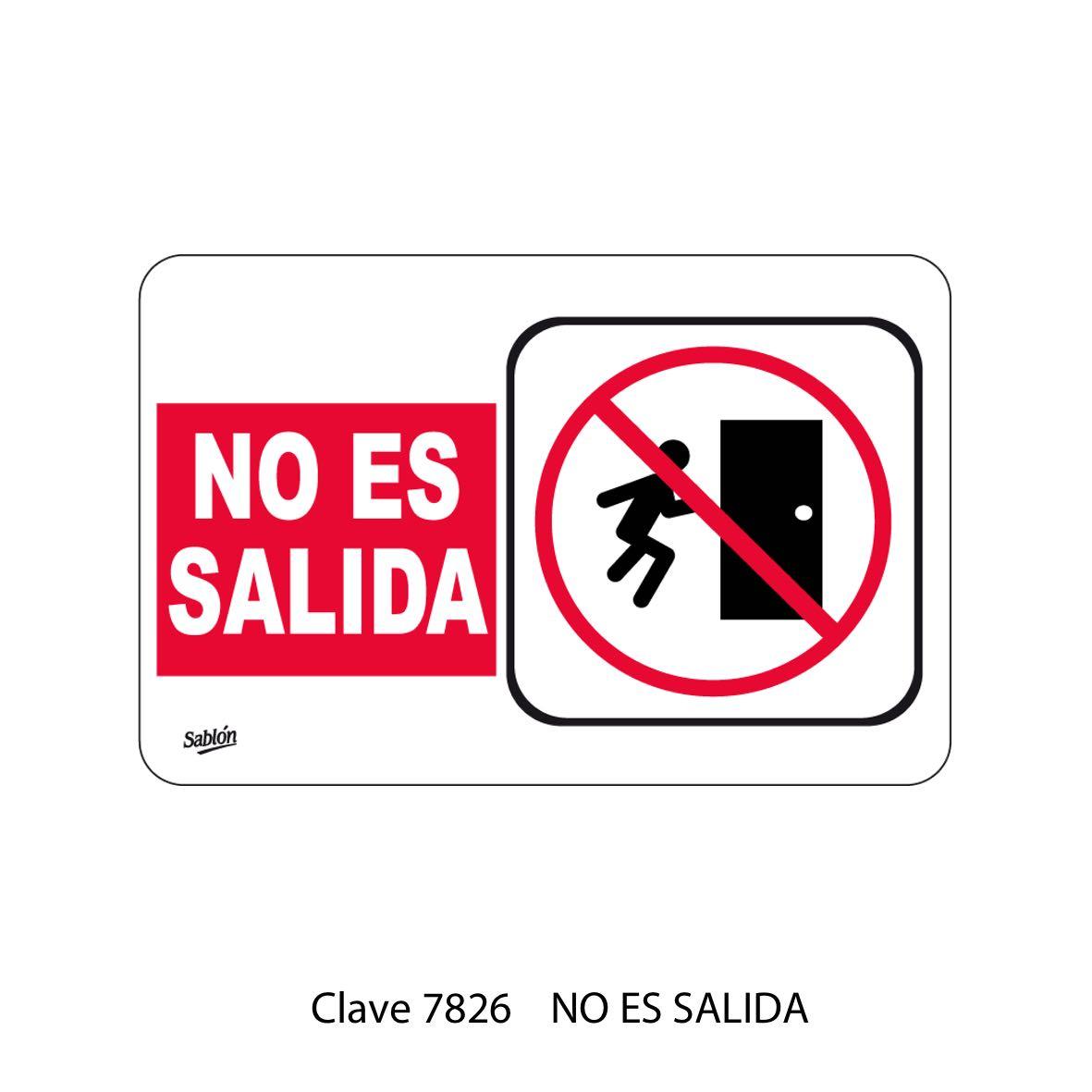 Señal No es Salida Modelo 7826 - Sablón