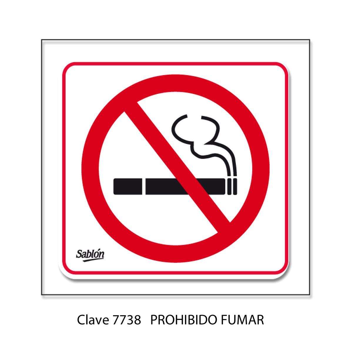 Señal Prohibido Fumar 7738 - Sablón
