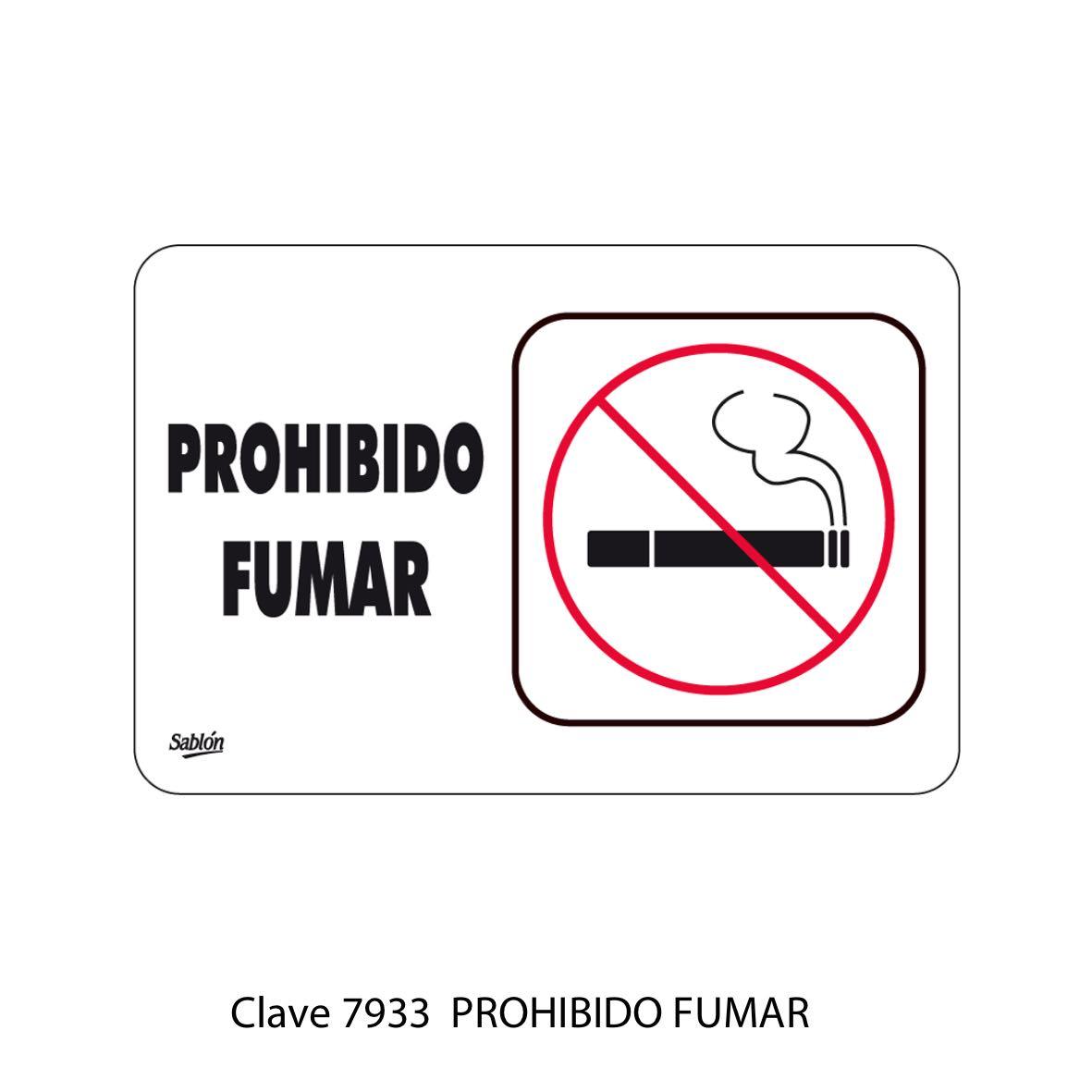 Señal Prohibido Fumar Modelo 7933 - Sablón