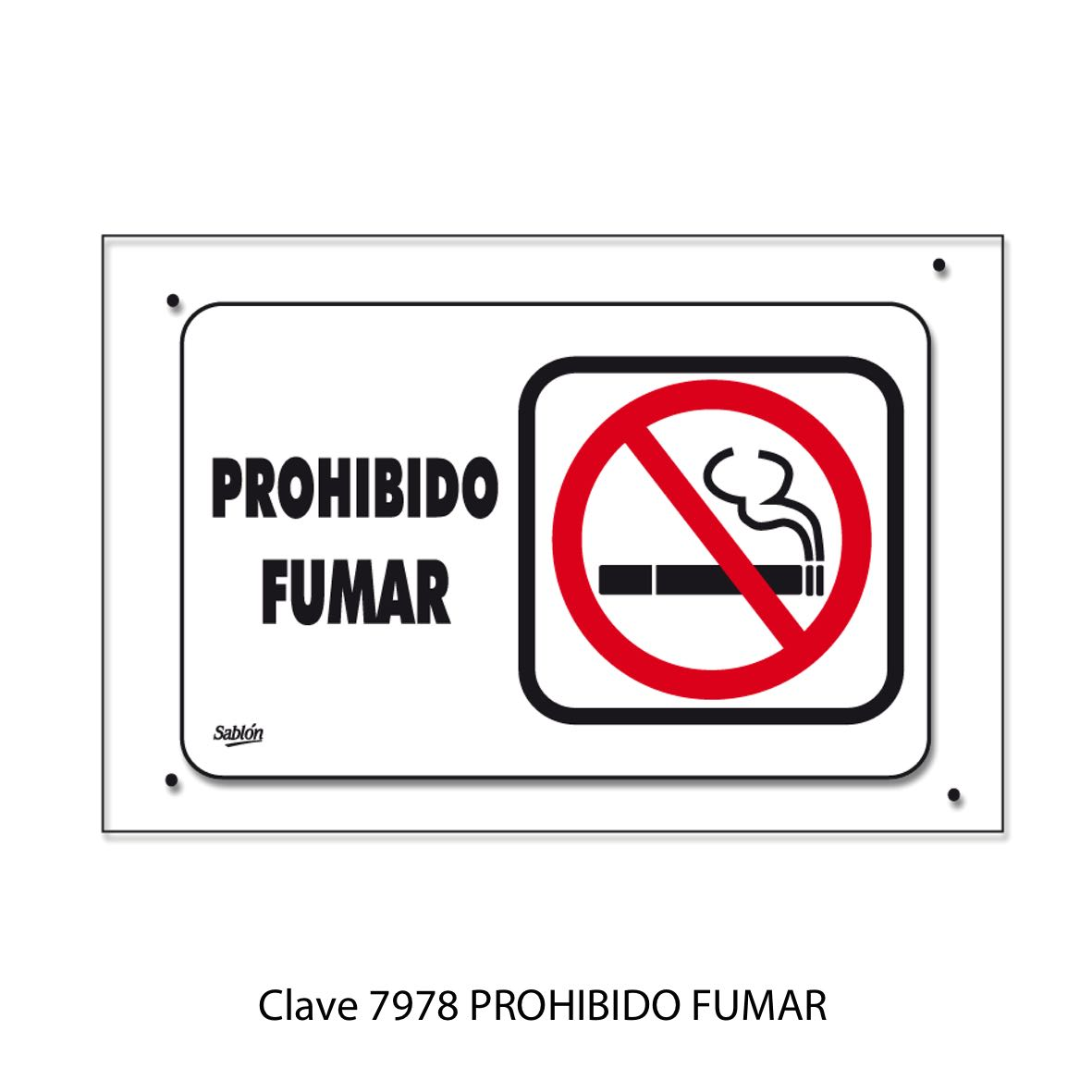 Señal Prohibido Fumar Modelo 7978 - Sablón
