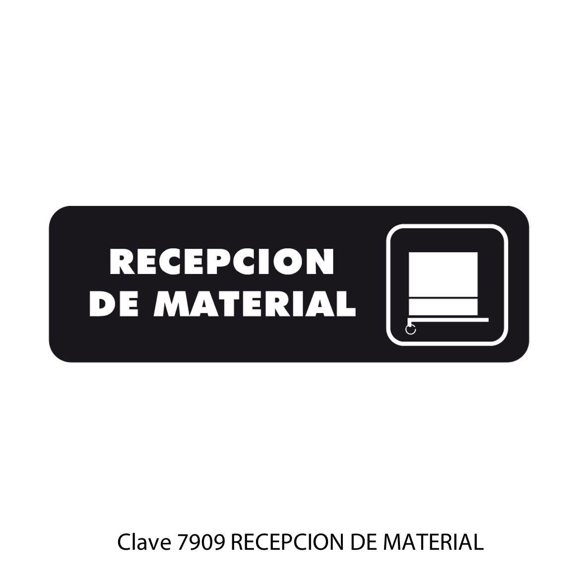 Señal Recepción de Material Modelo 7909 - Sablón
