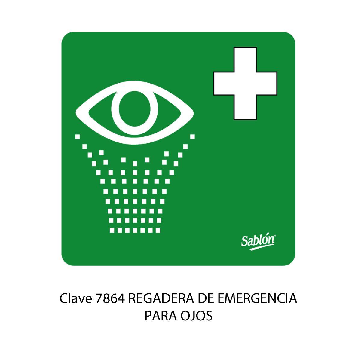 Señal Regadera de Emergencia para Ojos Modelo 7864 - Sablón