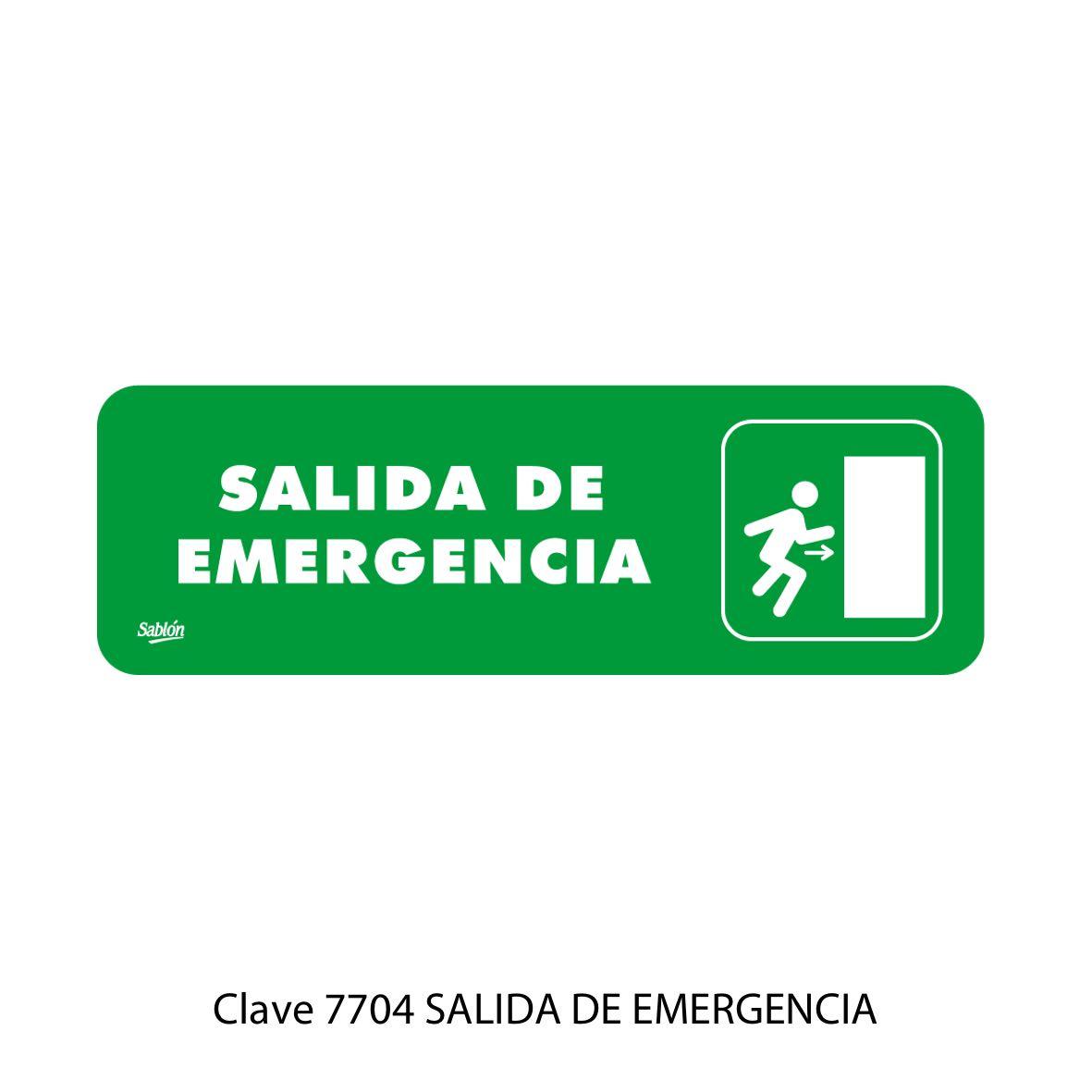 Señal Salida de Emergencia Modelo 7704 - Sablón