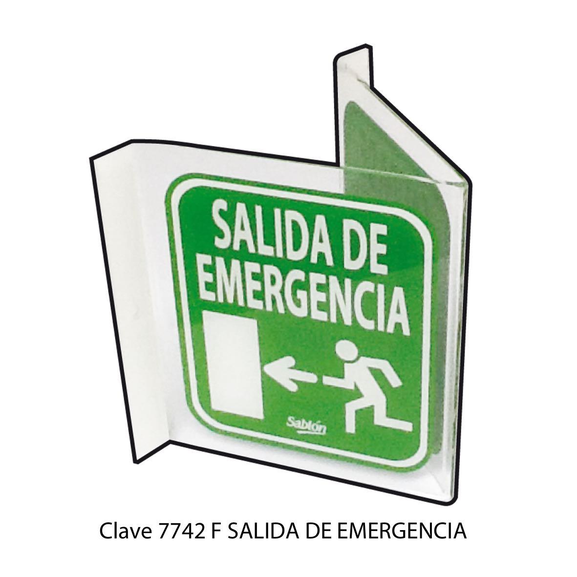 Señal Salida de Emergencia Modelo 7742 F - Sablón