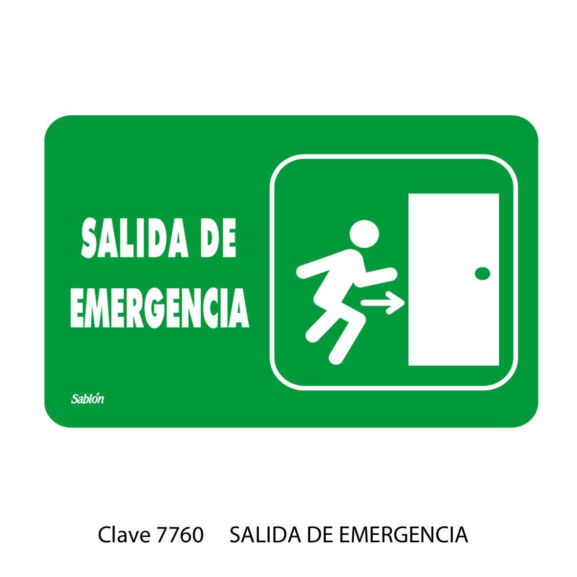 Señal Salida de Emergencia Modelo 7760 - Sablón