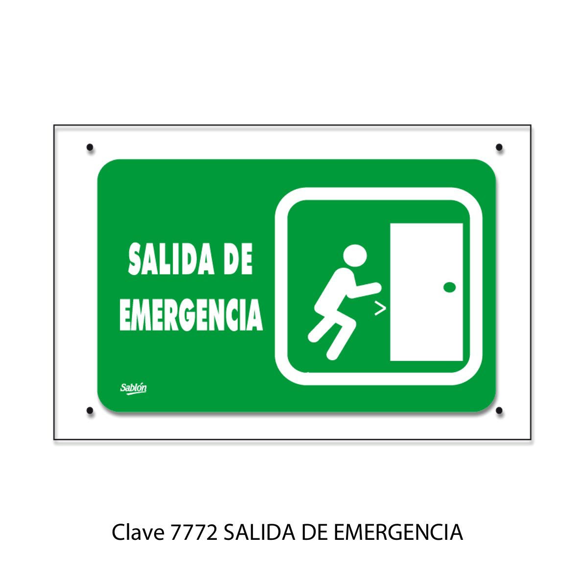 Señal Salida de Emergencia Modelo 7772 - Sablón