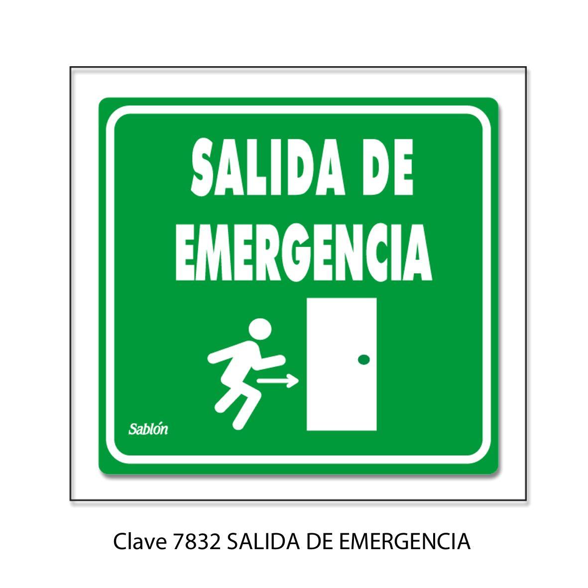 Señal Salida de Emergencia Modelo 7832 - Sablón